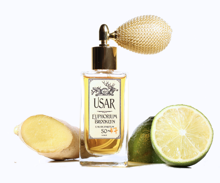 Usar Eau de Parfum 50 ml atomizer with ginger and lime slices