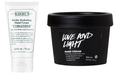 Kiehl's Coriander Richly Hydrating Hand Cream and Lush Love and Light